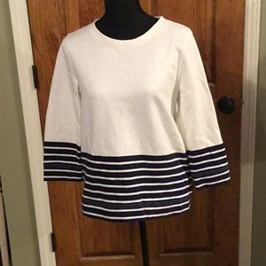 J Crew Navy & White Shirt